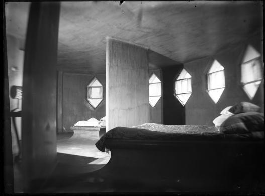 Спальня в Доме Мельникова. Начало 1930-х. © Государственный музей архитектуры им. А.В.Щусева