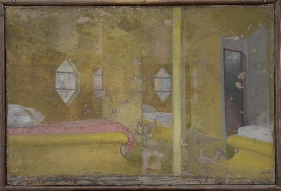 В.К. Мельников. Спальня. 1933. Холст, масло. © Государственный музей Константина и Виктора Мельниковых