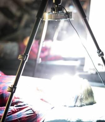 Йонас Керне под лучами Pandora Star